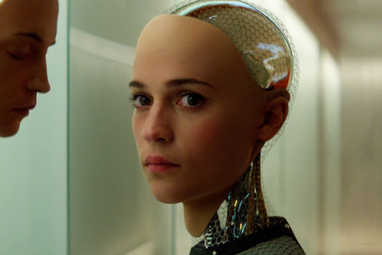 Alicia Vikander plays the female robot, Ava.