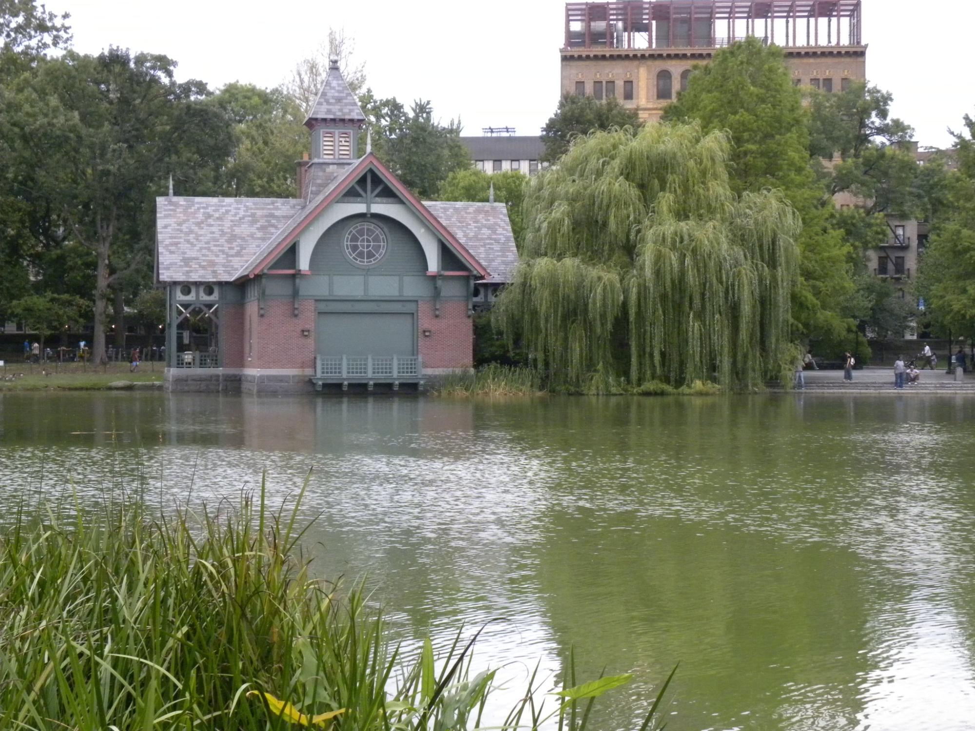 Central Park house near a lake.