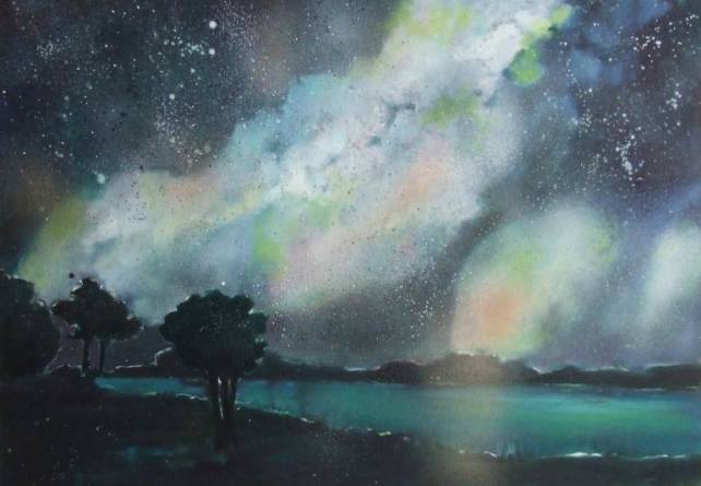 Tanja Vetter (b. 1973, Pforzheim, Germany) - Starry Night, 2015    Paintings: Oil on Canvas