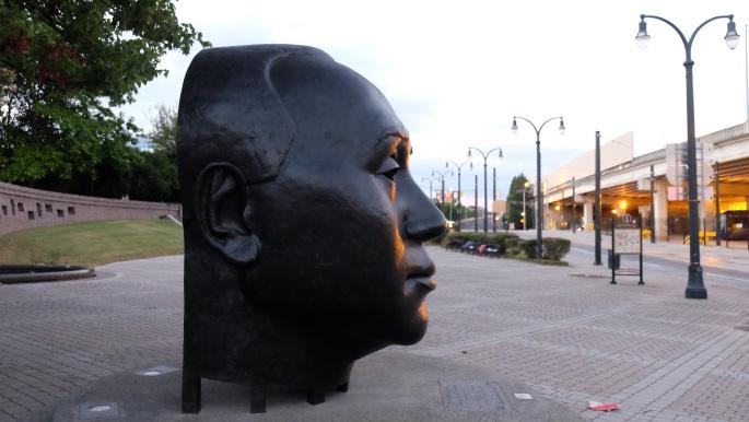 John Wesley Dobbs looking down Auburn Avenue.